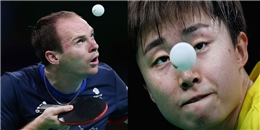 Biểu cảm 'khó đỡ' của các tuyển thủ thi đấu bóng bàn trong Olympic Rio
