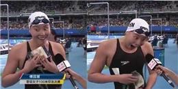 Khoảnh khắc 'khó đỡ' của vận động viên khi biết mình đoạt giải