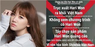 Liên tiếp vướng scandal, Hari Won bị cộng đồng mạng kêu gọi tẩy chay