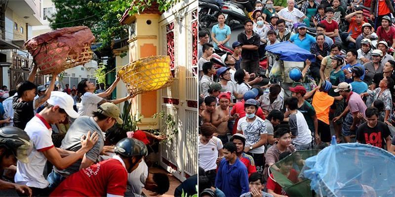 Thi nhau hứng tiền cúng cô hồn bằng lồng gà ở Sài Gòn
