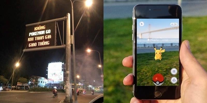 TP.HCM dùng bảng đèn LED cảnh báo không Pokémon Go