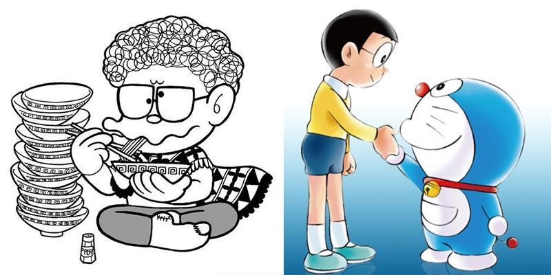 Ông chú ăn mì bí ẩn luôn xuất hiện trong các tập Doraemon là ai?