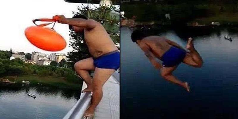 Bắt chước vận động viên Olympic, chàng trai nhảy cầu cao 25m dập phổi