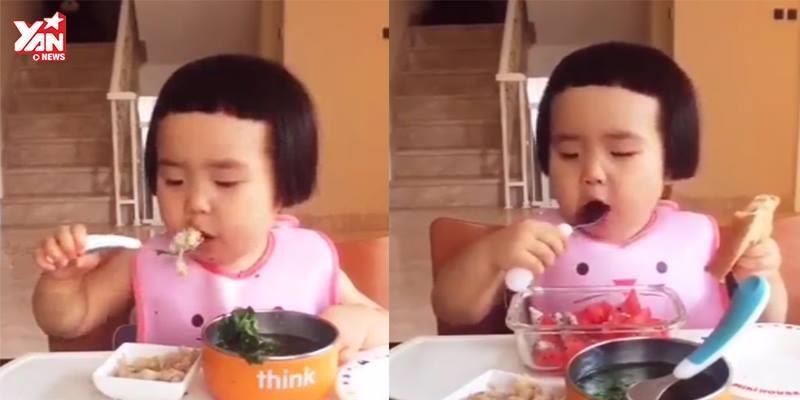 """Bé gái háu ăn đã trở lại, hứa hẹn """"ăn cả thế giới"""""""