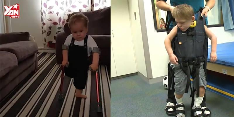 Những bước chân đầu tiên đầy nước mắt của trẻ em khuyết tật