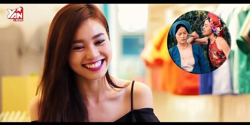 """""""Cám"""" Ninh Dương Lan Ngọc diễn lại cảnh ghen với """"Tấm"""" Hạ Vi"""