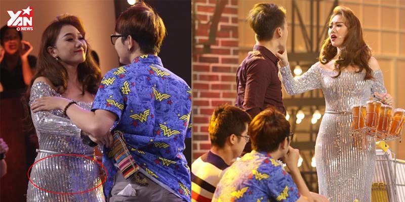 """Hari Won và những bộ váy áo """"tố cáo"""" mỡ thừa lộ liễu"""