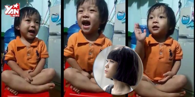 """Em bé 3 tuổi hát """"Như một giấc mơ"""" khiến Mỹ Tâm bấn loạn"""