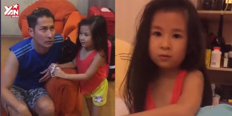 Cư dân mạng thích thú với đoạn clip con gái Huy Khánh bênh vực ba