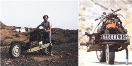 Ngưỡng mộ người thợ điện tự chế mô tô để thoát khỏi sa mạc