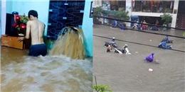 Huế ngập nặng sau mưa, người dân gần như phải