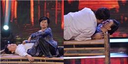 """Cát Phượng, Chí Tài """"khóa môi"""" trên sân khấu 'Hoán đổi cặp đôi'"""