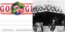 Google bất ngờ thay logo hình quốc hoa Việt Nam mừng Quốc khánh 2/9