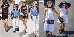 Choáng với gu ăn mặc chất hơn sao Hollywood của hai fashionista nhí