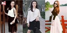 Gợi ý cách phối đồ trắng đen đầy biến hóa như Angela Phương Trinh