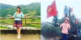 Hoa hậu Mỹ Linh chinh phục đỉnh Fansipan, quảng bá du lịch Sapa