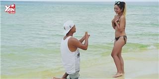 Dân mạng phát sốt với clip cầu hôn trên bãi biển đẹp như phim Hàn