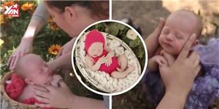 Tan chảy  với clip hậu trường chụp ảnh trẻ sơ sinh mới nhất
