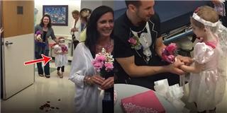 Lễ cưới xúc động của cô bé ung thư và y tá thân thiết của mình