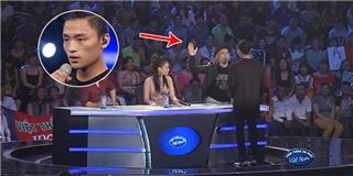 Huy Tuấn  tát yêu  thí sinh Vietnam Idol Việt Thắng