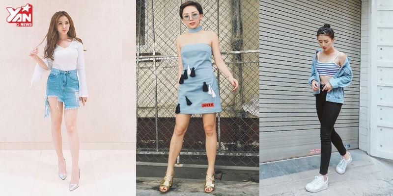 """Sao và """"hot girl"""" Việt mê mệt đồ denim trong street style tuần qua"""