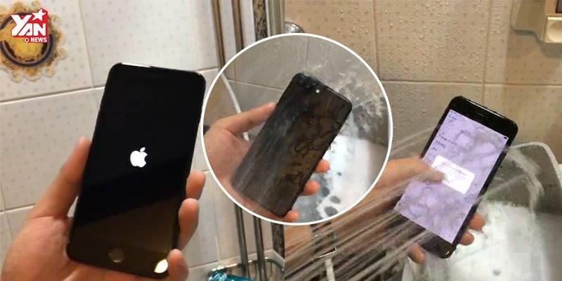 Bất ngờ trước thử nghiệm nhúng nước iPhone 7 Plus đầu tiên ở Việt Nam