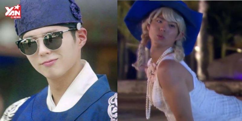 """""""Thế tử"""" Park Bo Gum xinh gái diện váy trắng thướt tha catwalk"""