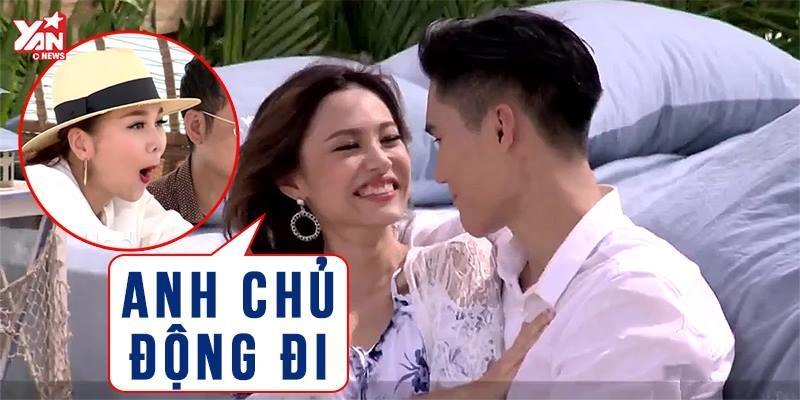 Fung La đề nghị Quang Hùng chủ động hôn mình khiến Thanh Hằng cực phấn khích