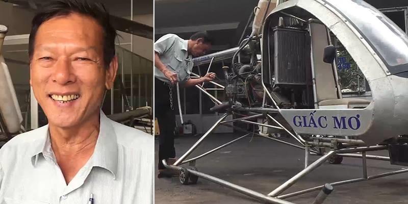 """Trực thăng tự chế của kỹ sư """"hai lúa"""" Việt Nam cất cánh thành công"""