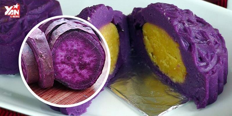 Bánh trung thu khoai lang tím nhân đậu xanh không cần lò nướng