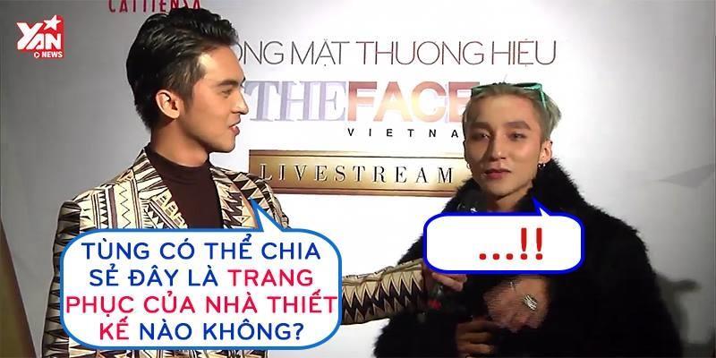 """MC hỏi """"đá đểu"""" chiếc áo lông Sơn Tùng mặc trong Chung kết The Face"""