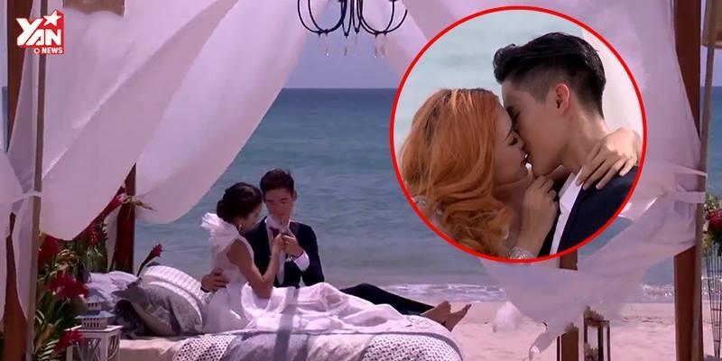 Thí sinh Next Top Model hết bầm dập lại tình tứ hôn nhau tại bãi biển