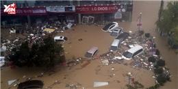 Thành phố Busan ngập chìm trong cơn bão kinh hoàng