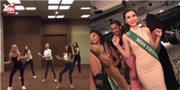 Nữ hoàng Sắc đẹp Toàn cầu - Ngọc Duyên nhảy flashmob tưng bừng