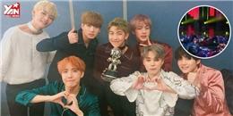 """BTS ăn mừng chiến thắng bằng màn biểu diễn """"lăn lộn"""" trên sân khấu"""