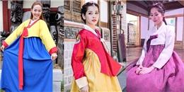 Ngây ngất trước vẻ dịu dàng, nữ tính của mĩ nhân Việt khi diện hanbok