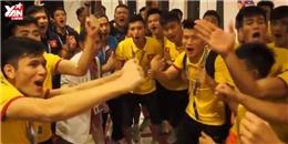 U19 Việt Nam ăn mừng chiến thắng và gửi lời cảm ơn người hâm mộ