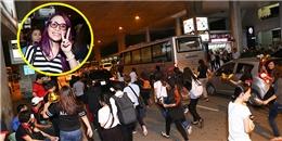 yan.vn - tin sao, ngôi sao - Fan gây náo loạn sân bay khi chạy theo xe và không ngừng hô tên Mỹ Tâm