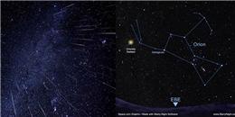 Mưa sao băng Orionid xuất hiện đỉnh điểm là vào 20/10