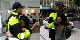 Chàng cảnh sát tình nguyện làm gối ôm dỗ dành cô gái thất tình