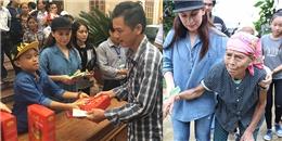 Hồ Văn Cường lần đầu cùng mẹ Phi Nhung đến thăm người dân miền Trung