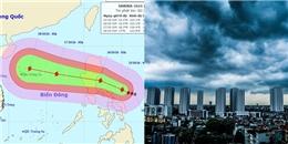 Bão Sarika hướng vào Biển Đông, cảnh báo mưa giông ở Hà Nội