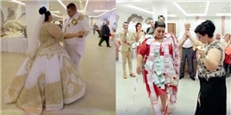 Lóa mắt trước chiếc váy cưới trị giá 5 tỉ dát vàng và đính đầy tiền
