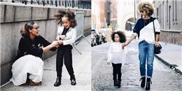 Choáng trước hình ảnh cặp mẹ con mặc 'chất lừ' như fashionista