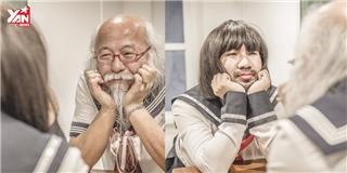 Anh chàng Thái Lan thực hiện bộ ảnh mới cùng cụ ông  nữ sinh Nhật Bản