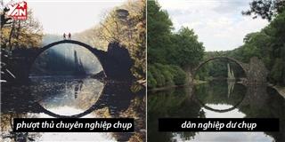 Cười bò với sự khác biệt giữa chụp ảnh chuyên nghiệp và nghiệp dư