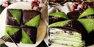 Bánh crepe trà xanh sô cô la siêu hấp dẫn thị giác