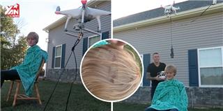 Cạn lời  với thanh niên chơi liều cắt tóc bằng flycam