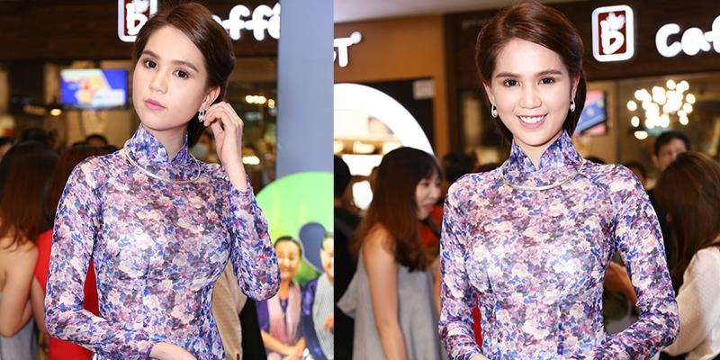 yan.vn - tin sao, ngôi sao - Ngọc Trinh diện áo dài hoa nền nã hoá quý cô Sài Gòn xưa