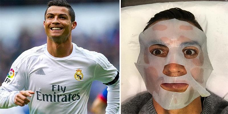 """""""Chán"""" thi đấu, Ronaldo chuyển sang đắp mặt nạ làm đẹp"""